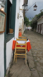 An abandoned street in Paraty during a game